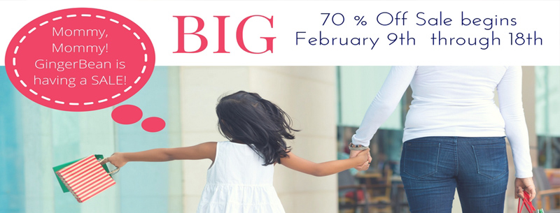 BIG 70% Off Sale at GingerBean
