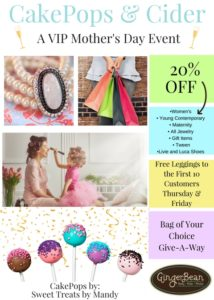 A VIP Mother's Day Event at GingerBean