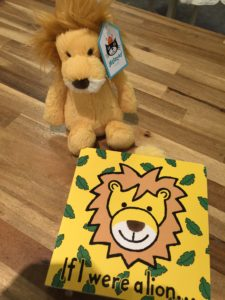 Jelly Cat Lion and Book