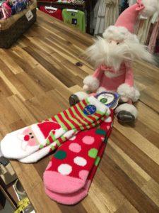 JellyCat Santa and Jefferies Socks