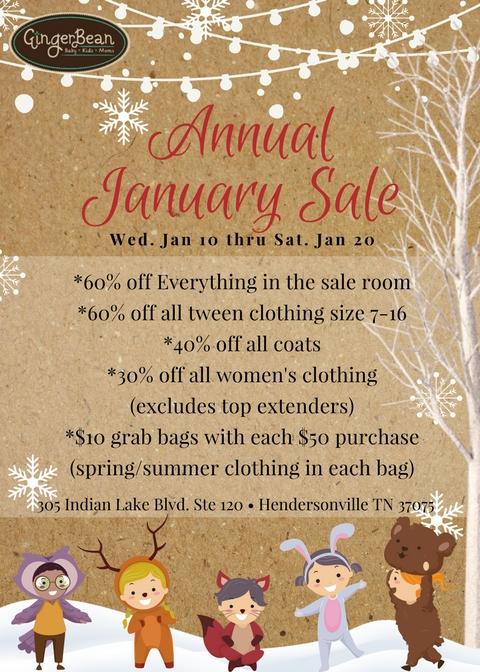 GingerBean's Annual January Sale